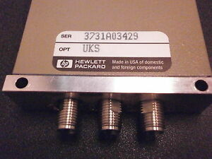 Hp Agilent 8762c Rf Coaxial Switch Dc 26 5 Ghz