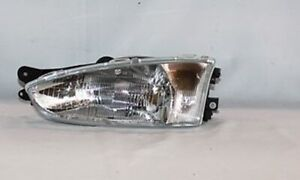 Left Side Replacement Headlight Assembly For 1997 2002 Mitsubishi Mirage Coupe