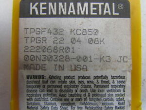 Kennametal Tpgf432 Kc850 Tpgr 22 04 08k Carbide Insert Grade Kc850 Box Of 9pcs