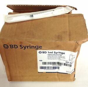 Bd 1ml Tuberculin Slip Tip Syringe Box Of 100