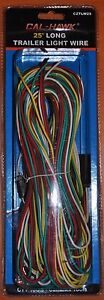 New 25 Foot Long Trailer Light Wire 4 Flat Wiring Extension Kit With Hardware