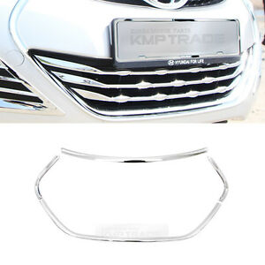 Chrome Bumper Radiator Low Grille Molding Cover For Hyundai 2011 2013 Elantra Md
