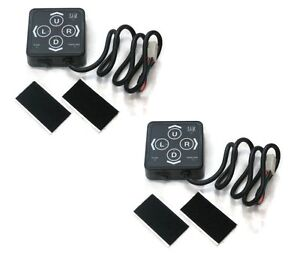 2 Snow Plow Touch Pad Membrane Switches With Rectangular Harness Plug 1306083