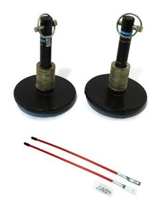2 New Universal Snow Plow Shoe Skid Foot Assemblies W Blade Markers Snowblade