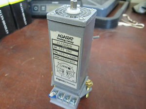 Agastat Timing Relay 2122d4yd 125vdc 375 3 Range W base Used Missing Top