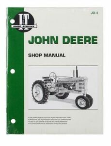 Shop Manual Fits John Deere A B D G H M Mt Tractor