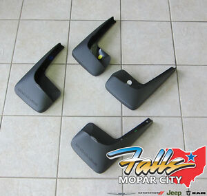 2011 2019 Dodge Grand Caravan Deluxe Molded Splash Guards Mud Flaps Mopar Oem