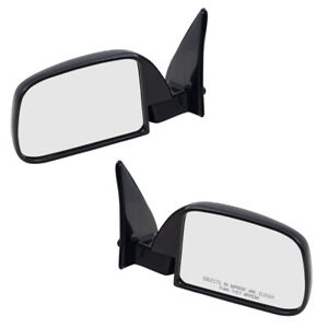 Fits Toyota Pickup Truck 89 95 W Out Vent Window Set Of Side View Manual Mirrors