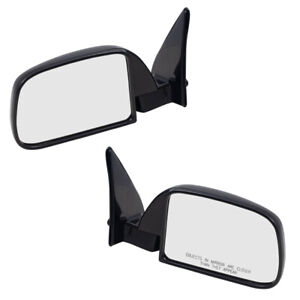 89 95 Toyota Pickup Truck W Out Vent Window Set Of Side View Manual Mirrors