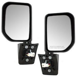 Fits Toyota Fj Cruiser 07 14 Set Of Side View Power Mirrors Gloss Black W Lamps