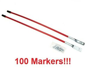 100 Universal Snow Plow Blade Marker Guides For Boss Msc01870 Western 62265