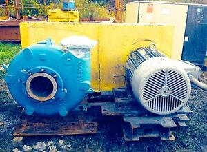 Metso Horizontal Arrangement Model Hm200 Ehc d C5 Slurry Pump With 125hp Motor