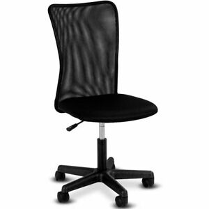 Modern Ergonomic Mesh Mid back Office Chair Swivel Armless Computer Desk Task