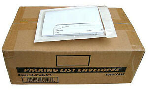 2000 Clear Packing List Invoice Envelopes 4 5x5 5 super Sticky 2 5mil Fast