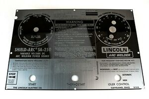 Lincoln Sa 250 Mirrored Stainless Steel Face Plate code Above 8900 Bw895