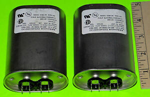 2 Oil Filled Capacitors 24uf 480vac Tested 1350vdc Aerovox Z93s4824m01a3 Nos