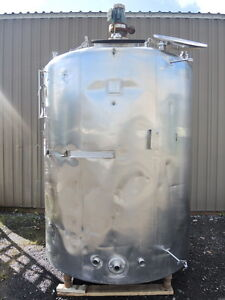 1200 Gallon Stainless Steel Insulated Tank With 2 Hp Mixer