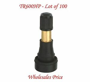 Lot Of 100 Tr600hp High Pressure Snap in Tire Valves Rated To 100 Psi