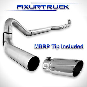 Mbrp 4 Exhaust S6004plm 01 07 Duramax 6 6l Lb7 Lly Lbz No Muffler With Tip