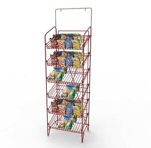 Metal Wire Rack Stand Display Multi tier For Boxes T shirtes Newspapers 12117