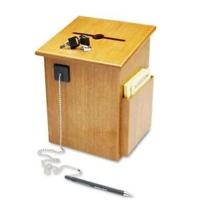 Buddy 5622 Wood Suggestion Box 7 25 X 10 X 7 5 Inches Medium Oak Free S h