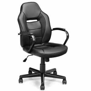 Gaming Chair Mid back Office Chair Racing Chair Swivel Desk Task Computer Home
