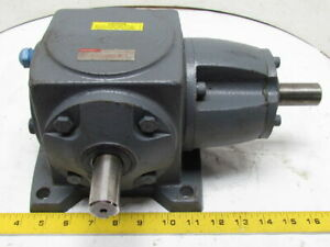 Boston Right Angle Spiral Bevel Speed Reducer Gear Box 1 1 Ratio 26hp M1 Mount