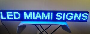Led Sign Wi fi Wireless Connection Programmable 50 Led Display Blue Outdoor P10