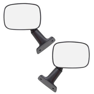 Fits Toyota Pickup Truck 84 86 4runner Set Of Side View Manual Textured Mirrors