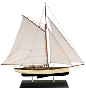 1930s Classic Yacht Large Sailboat Model 35 Wooden Nautical Decorative New