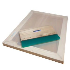 Value Pack A3 Silk Screen Printing Frame With 43t Mesh 12 Wooden Squeegee