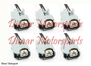 6 Ev6 Fuel Injector Connector Plugs Clips Pigtails Quick Disconnect Us Car