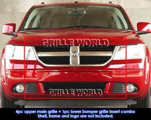 Aluminum Black Billet Grille Combo For 2009 2010 Dodge Journey R T Se Sxt