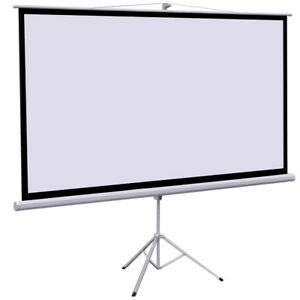 100 Tripod Foldable Projector Projection Screen 87x49 Movie Projector 16 9