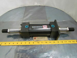 Hydro line Pneumatic Air Cylinder 2 1 2 Bore 4 Stroke Double Rod