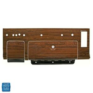 69 Camaro Cherrywood Dash Plate Includes Dash Section Glovebox And Ashtray Door