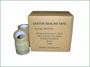 Clear Acrylic Sealing Packing Tape 2 X 330 48 Mm X 110 Yards 1 Or 36 Rolls