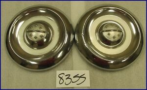 Olds Oldsmobile 10 Dog Dish Poverty Hubcaps Hub Caps Used Oem Original Pair