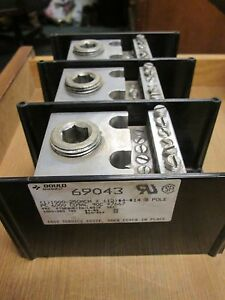 Gould Power Distribution Block 69043 Line 1000 250mcm Load 12 4 14 3p Used