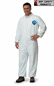 Dupont Tyvek Coveralls Plain Suit 25 Per Case Size Large Disposable Coverall