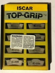 Iscar Tgmf 608 Ic 20n Top Grip Carbide Inserts Grooving 10 Pcs Lathe Cut off New