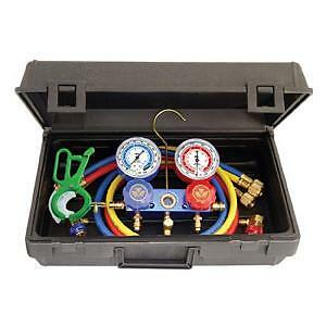 Mastercool 89660 Pro5 R134a Manifold Gauge Set With Free 3 In 1 Can Tap Valve