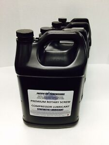 144046 005 Quincy 8000 Hour 1 Gal 4 Pack Synthetic Rotary Air Compressor Oil
