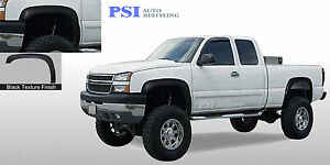 Black Textured Rugged Fender Flares 1999 2006 Chevrolet Gmc 1500 2500 3500