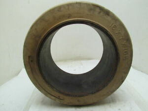 16x7x10 1 2 Smooth White Rubber Non marking Press on Forklift Tire 16x7x10 5
