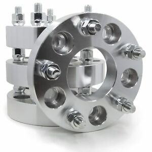 4 Wheel Spacers Converts 5x120 To 5x5 1 25 12x1 5 Studs 5 Lug Adapters