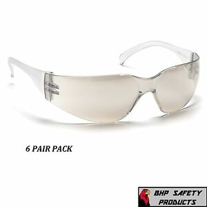Pyramex Intruder Safety Glasses Indoor outdoor Mirror I o Lens S4180s 6 Pair