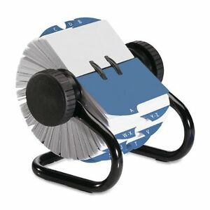 Rolodex Open Rotary Card File With 500 2 1 4 X 4 Inch Cards And 24 Guides 66704
