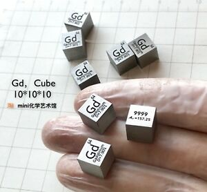 Collection High Purity 99 99 Gadolinium Gd Metal Carved Element 10mm Cube