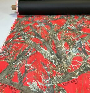 20 Yards 1000d Seat Cover Fabric Automotive Cordura True Timber Mc2 Red 60 Dwr